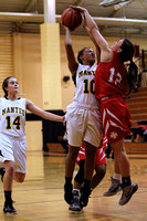 Manteo Women's Basketball versus Gates County Conference Playoffs 1st Round 2/16/16