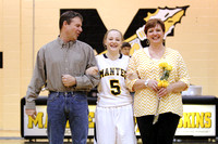 Manteo Women's Basketball 'Senior Night' versus Cape Hatteras 2/12/15