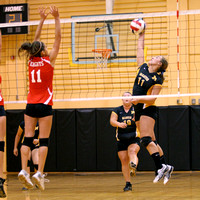 Lady Redskin Volleyball versus Currituck 8/14/12