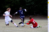 Manteo Varsity Soccer Playoff versus Raleigh Charter 11/8/14