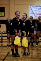 Manteo Volleyball versus Cape Hatteras 'Senior Night' 10/18/16